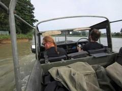 Leonard happier in water than Bob's passenger!