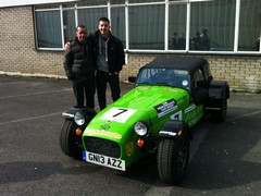 Dan & proud Dad at the Caterham factory