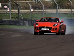 F-Type, tyre smoke ... well, what did you expect?
