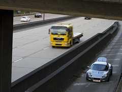 Danny's Lotus spills its guts on the M25
