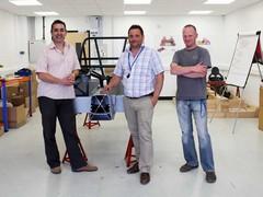 L-R: Ansar Ali, Mark Edwards and Chris Weston