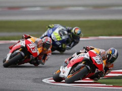 Pedrosa leads Marquez and Rossi