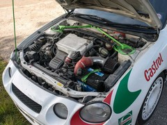 255hp for JDM road car, 300+ for rally cars