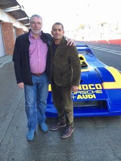 Harris and Porsche racing hero Jurgen Barth