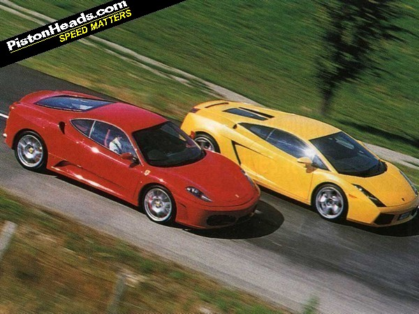 Ferrari 360 vs gallardo