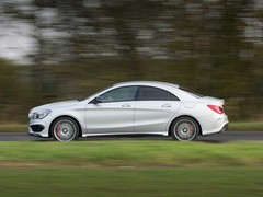 In profile the CLA carries the 'baby CLS'  look...