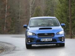 Wet Swedish roads play to the Subaru's strengths