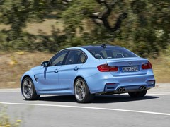 Fatter arches give M3 a ruder look than coupe