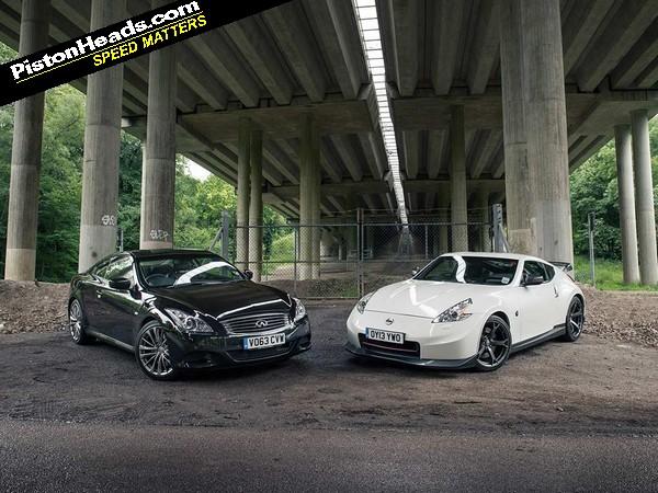 Nissan 370Z vs Infiniti Q60: Blood Brothers | PistonHeads
