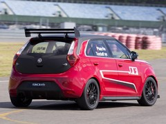 Rear spoiler's adjustable. Because race car