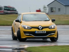 Matt gets a lesson in the Megane's lively rear end