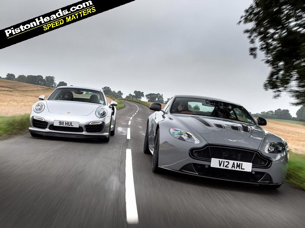 Aston Martin V12 Vantage S vs Porsche 911 Turbo S | PistonHeads