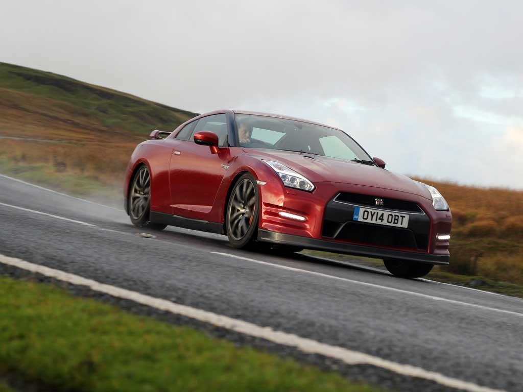 Wet road? GT-R still rampantly fast