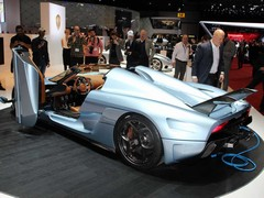 A Koenigsegg with a plug out the back?