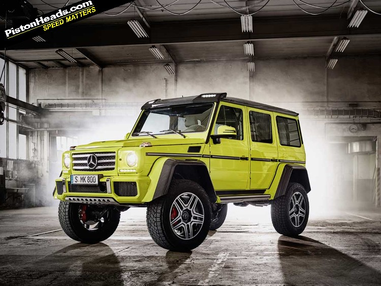 Mercedes g500 4x4 39 squared 39 updated pistonheads for Mercedes benz 4x4 squared