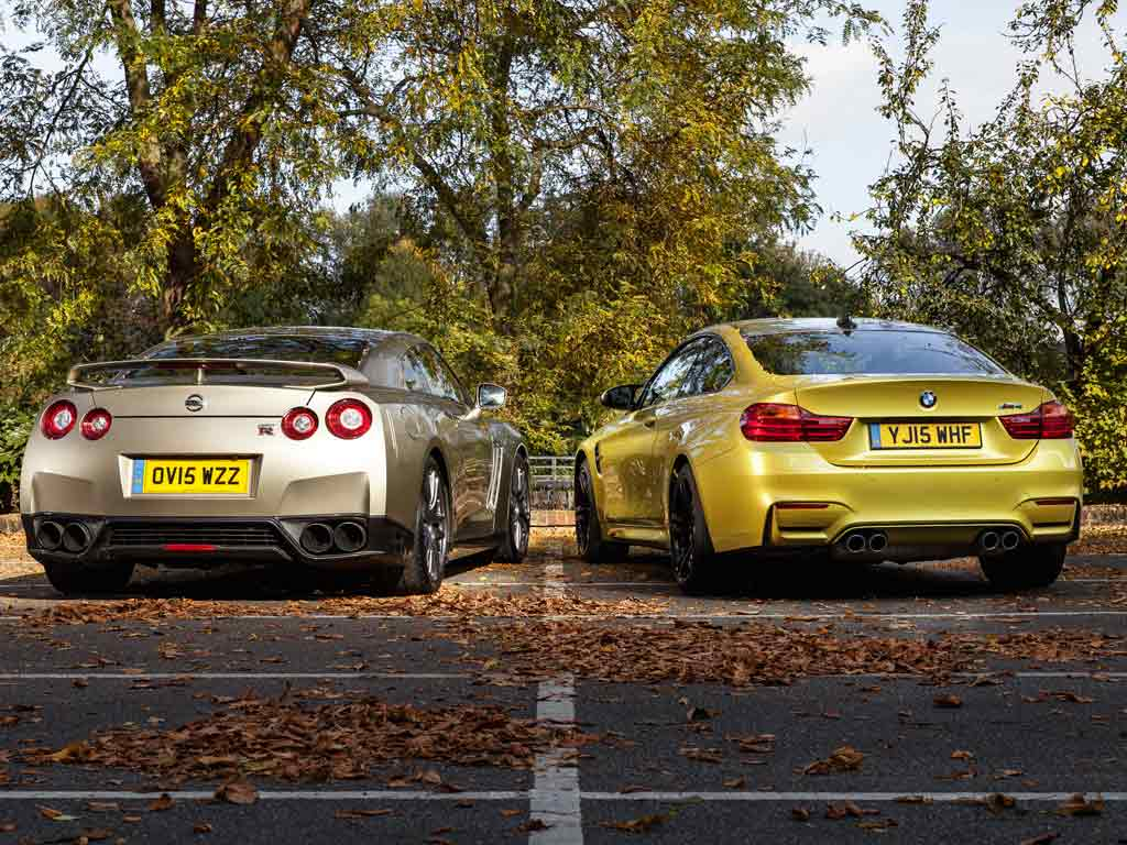 Bmw M4 Vs Nissan Gt R 45th Anniversary Pistonheads Gtr Nismo Specs Four Turbos 12 Cylinders And Nearly 1000hp