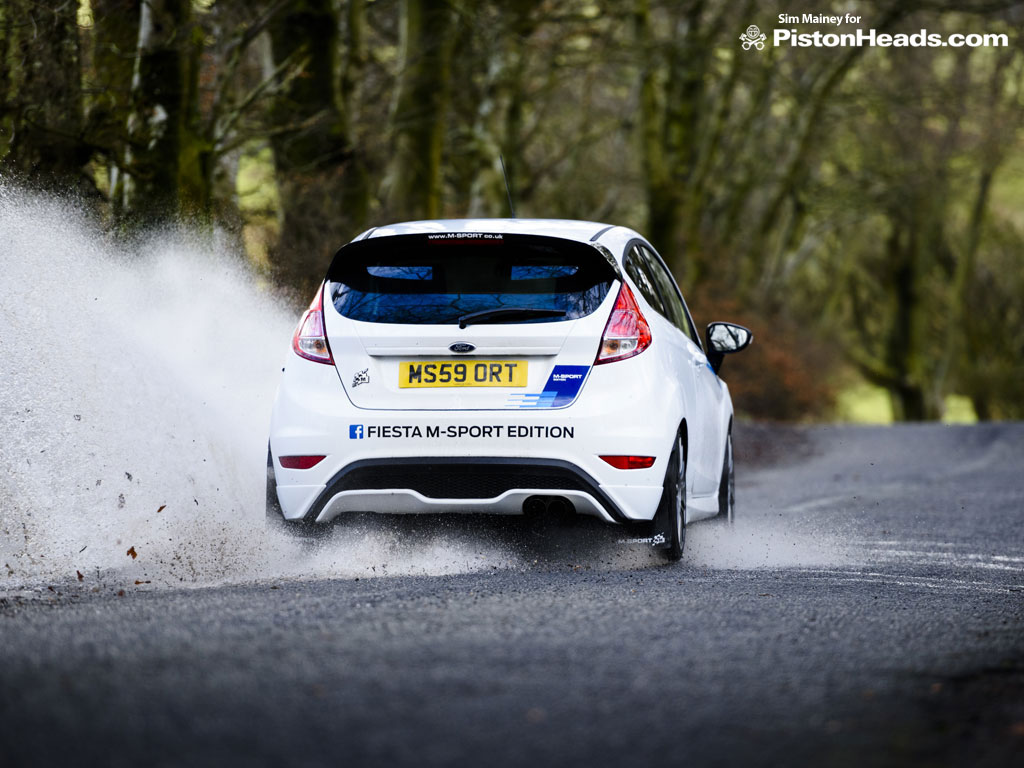 Fiesta M Sport Edition Well Obviously We Had To Do A Water Splash