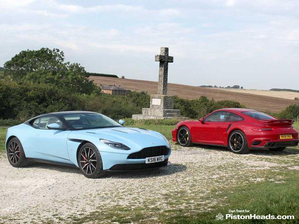 Aston Martin DB11 vs  Porsche 911 Turbo S | PistonHeads