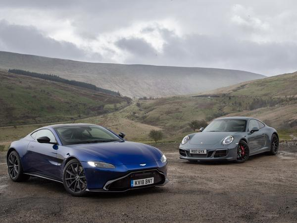 Aston Martin Vantage Vs Porsche 911 Carrera Gts Pistonheads Uk