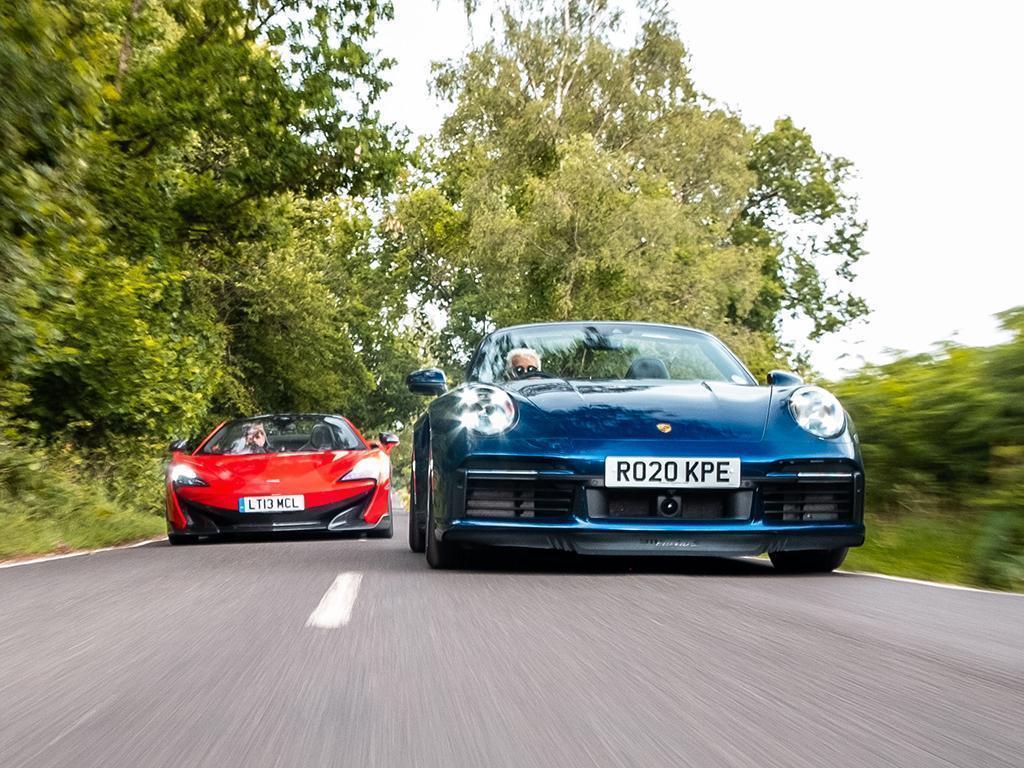 911 Turbo S Cabriolet vs. McLaren 600LT Spider - Pistonheads.com